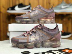 cf1a6b8527bff Nike Air VaporMax 2019 Plum Chalk   Mtlc Red Bronze AR6632-500 Women s  Athletic Running Shoes