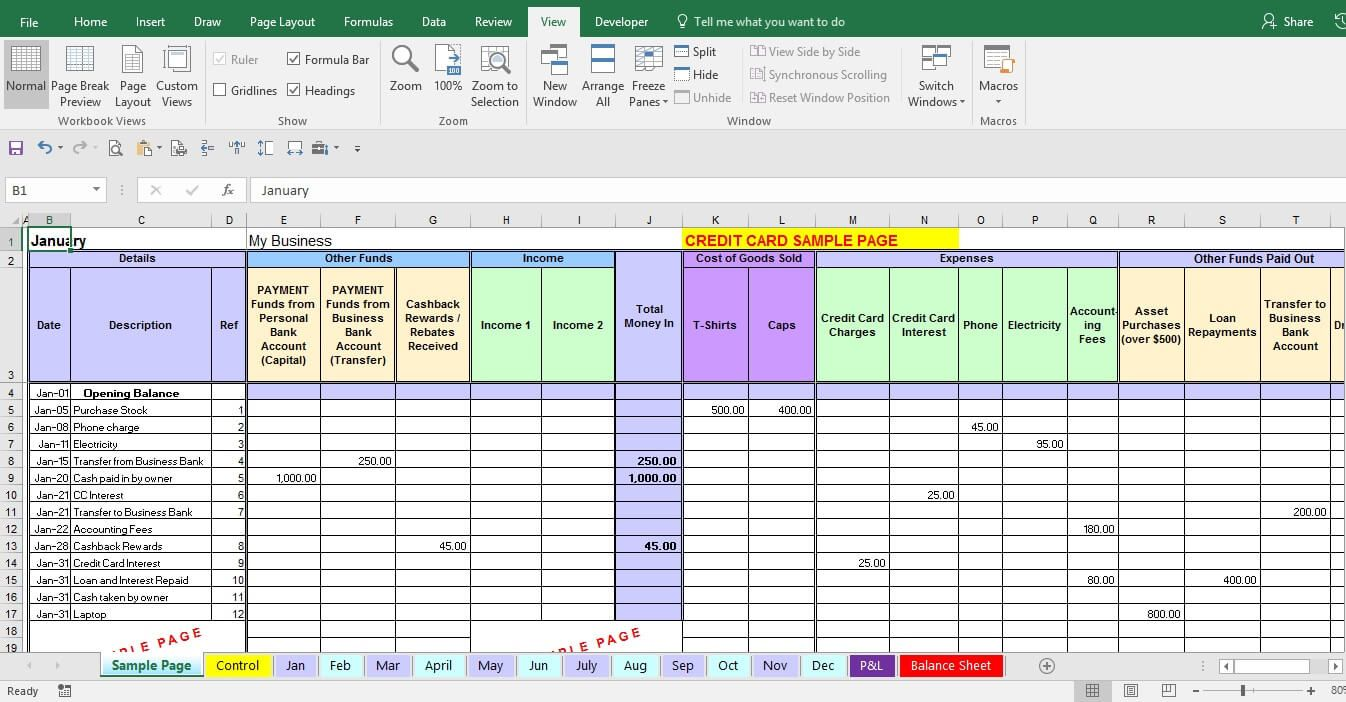 Excel expense report template statement template report