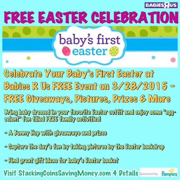 Celebrate your babys first easter by attending the free babies r celebrate your babys first easter by attending the free babies r us easter event saturday march negle Images