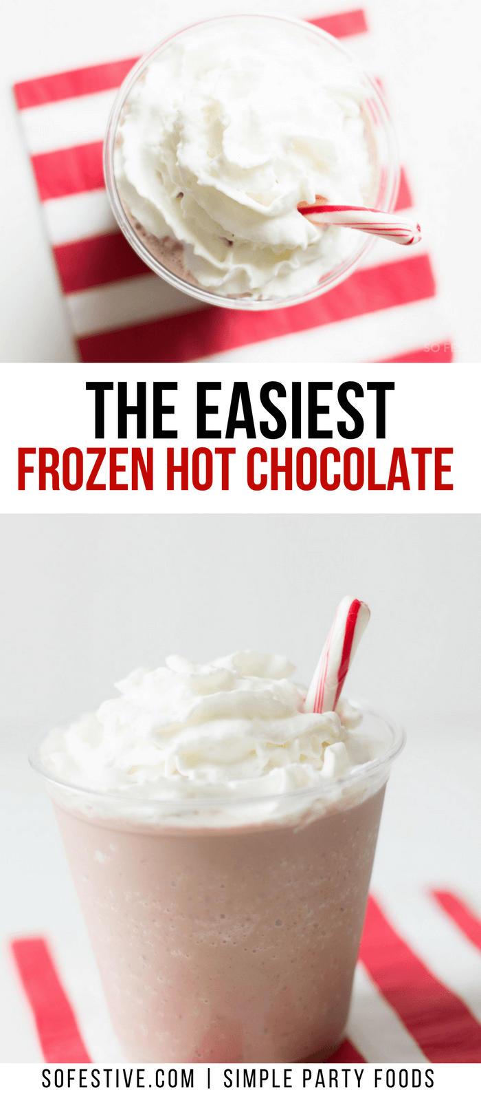 Super Easy Frozen Hot Chocolate Drink Recipe | So Festive! #hotchocolaterecipe