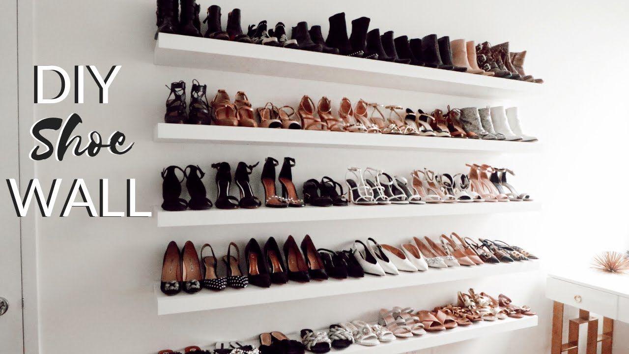 diy shoe storage idea ikea hack ikea lack wall on wall hacks id=16931