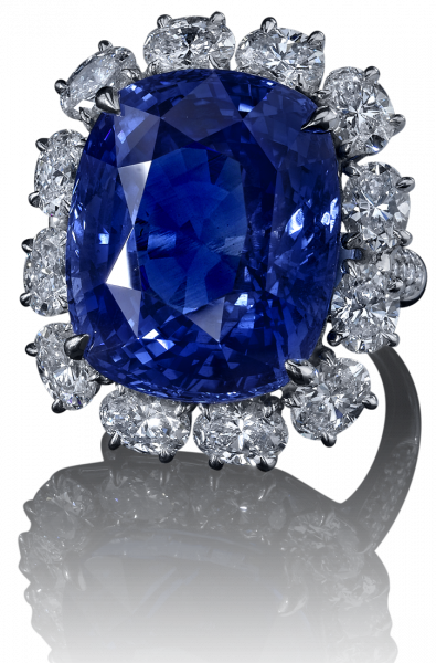 Robert Procop Exceptional Jewels... 38Ct Cushion Sapphire Ring