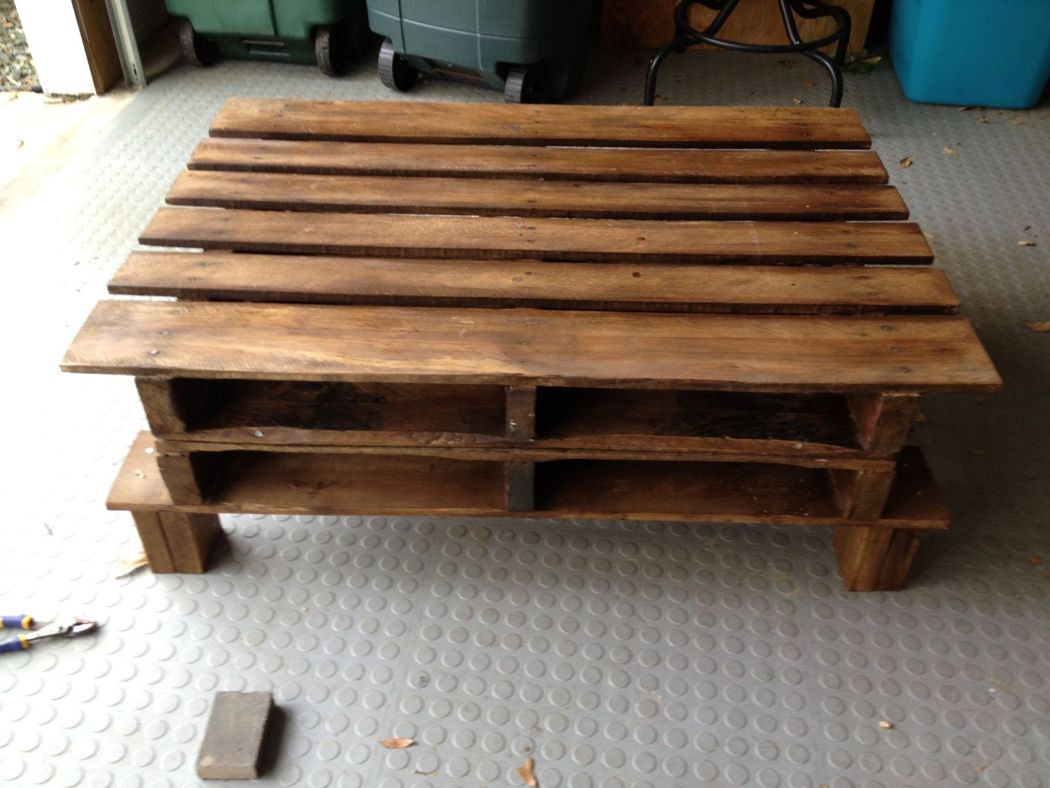 Pallet furniture indoor outdoor table by for Patio table made from pallets