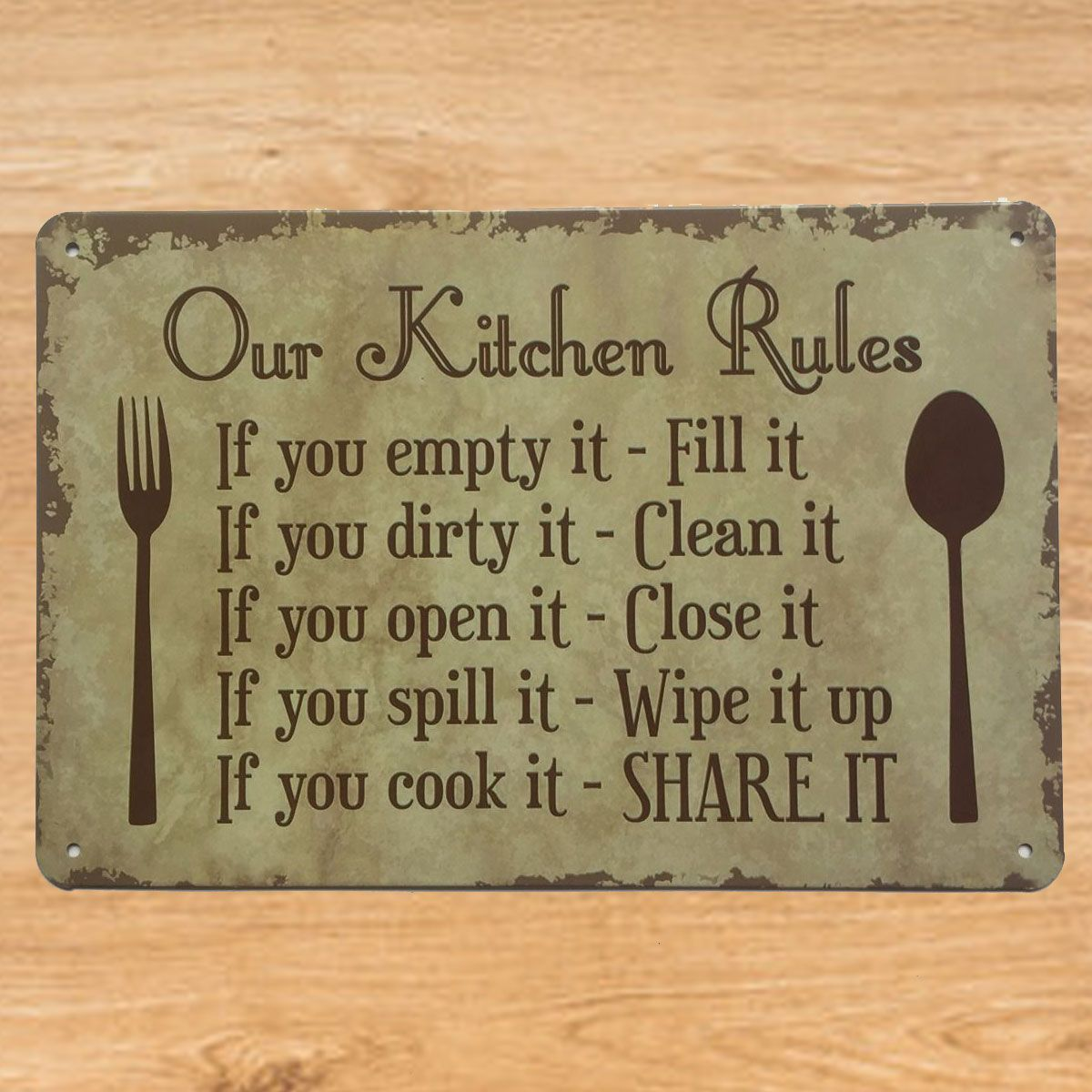 OUR KITCHEN RULES SIGN #kitchenrules OUR KITCHEN RULES SIGN #kitchenrules