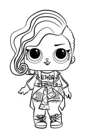 Lol Surprise Doll Rocker Coloring Page Desenhos Fofos Para Colorir Pintar E Colorir Desenhos Para Criancas Colorir