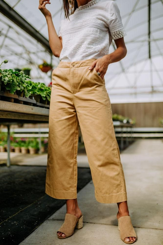 Photo of Keegan Wide Leg Trousers in Camel