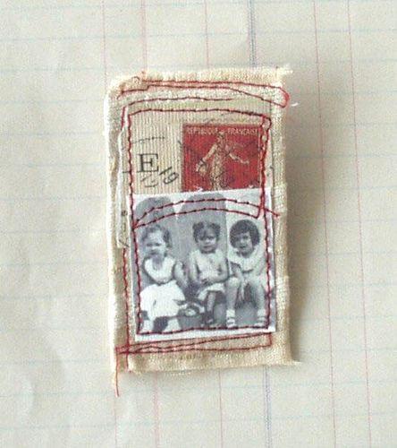 vintage style, textile brooch