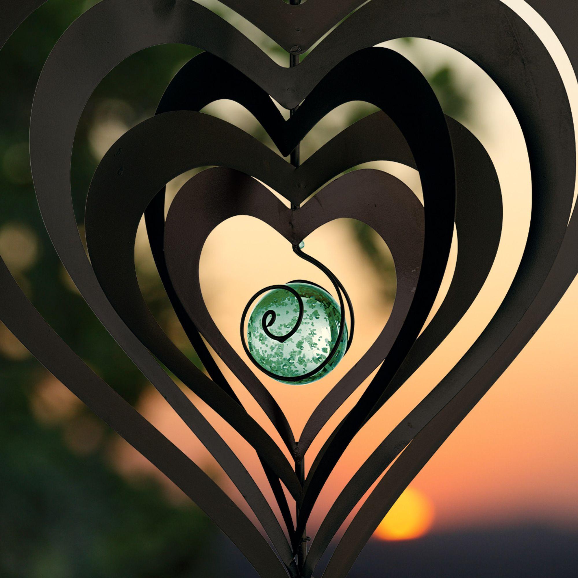 """Windspiel """"Nachtleuchtendes Herz""""  #gingar"""