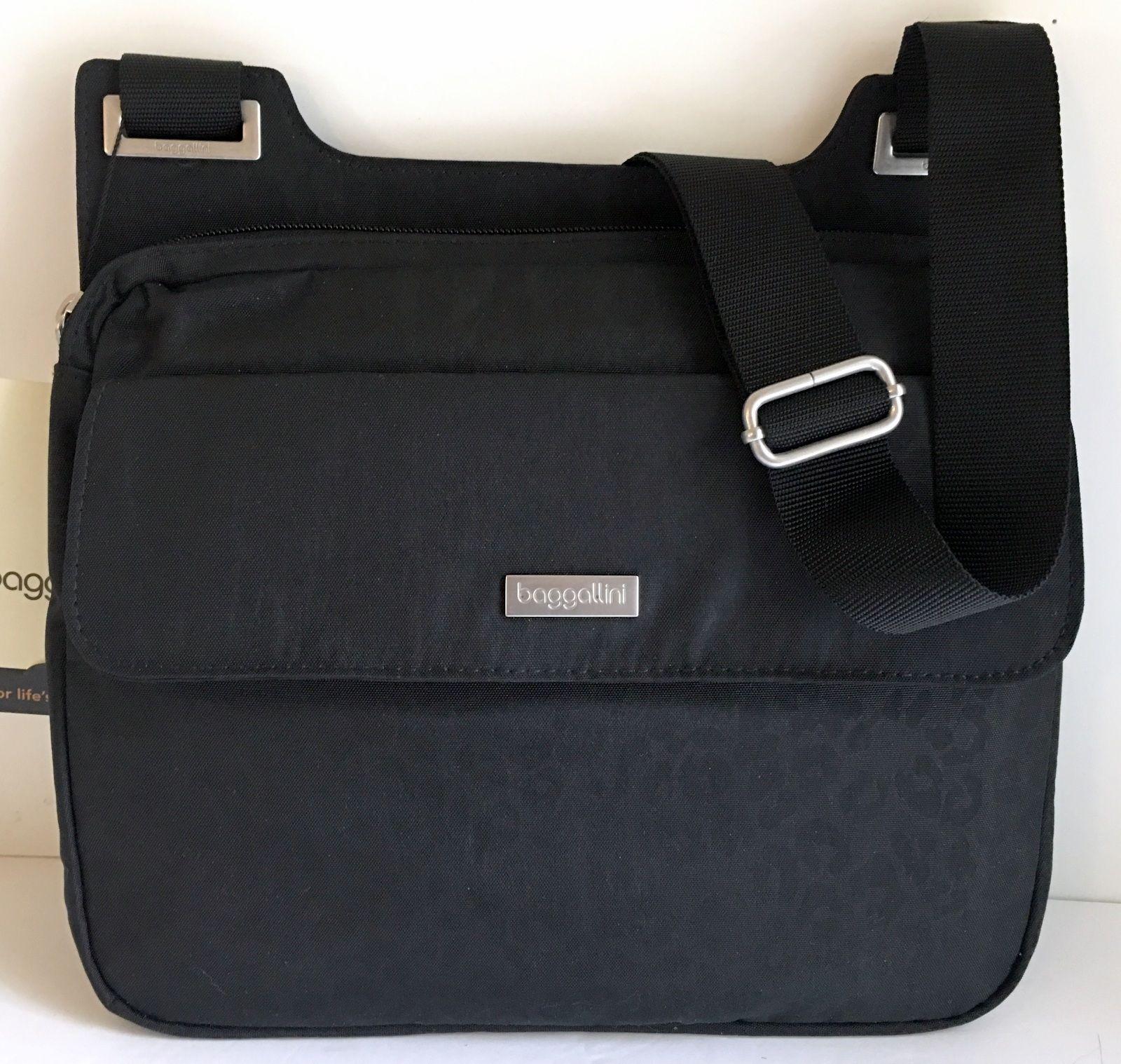 c77a20649f NEW BAGGALLINI TOWN BAGG Brown Crossbody Shoulder Bag Front Pockets Top Zip  NWT
