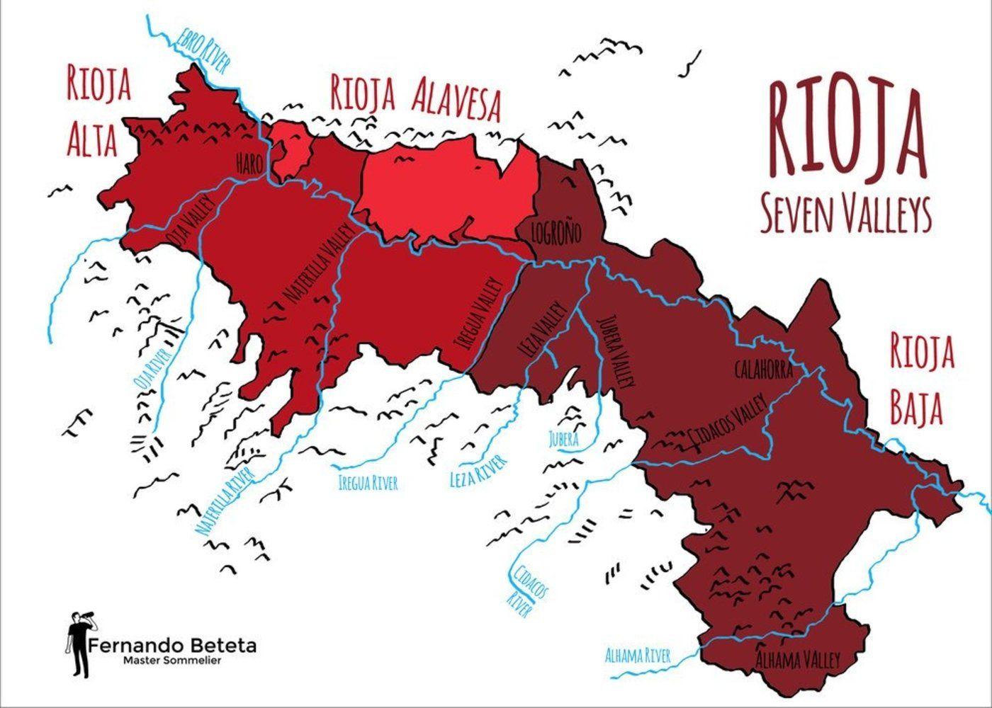 Rioja Wine Region Map Wine Paths Wine Region Map Rioja Wine Region Rioja