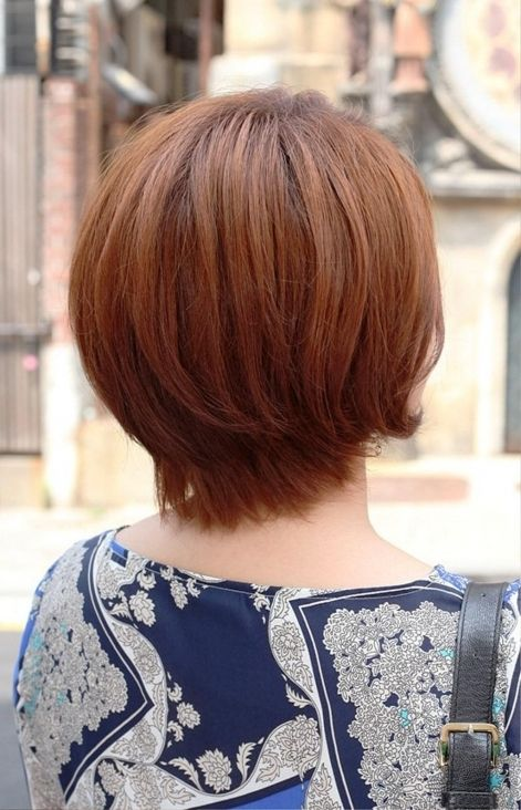 Layered Short Haircuts Front And Back View List | Bob haircut back view, Long bob haircuts, Wavy ...