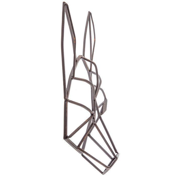 Brown Geometric Fox Head Metal Wall Decor | crafts | Pinterest ...