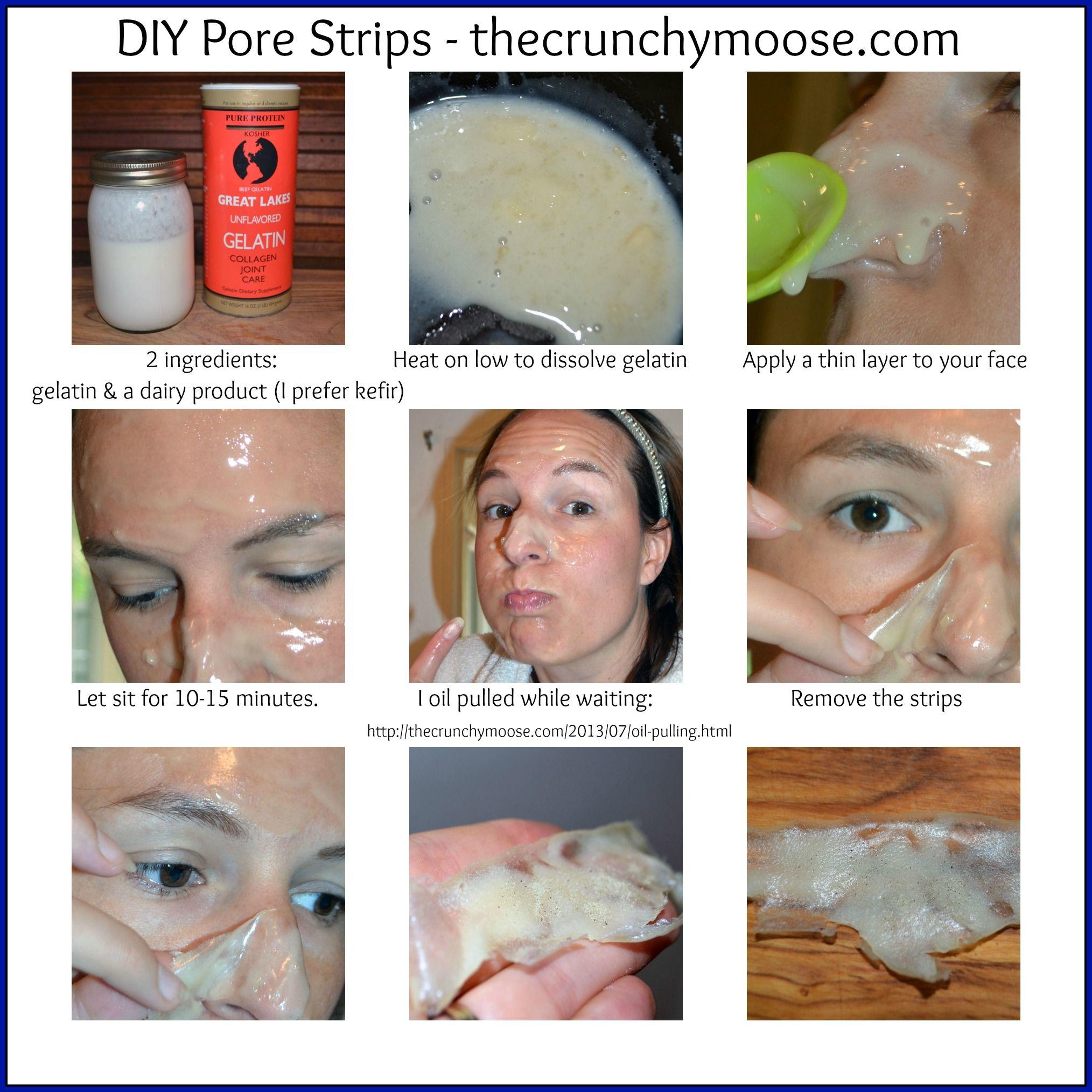 DIY Pore Strips To Remove Blackheads