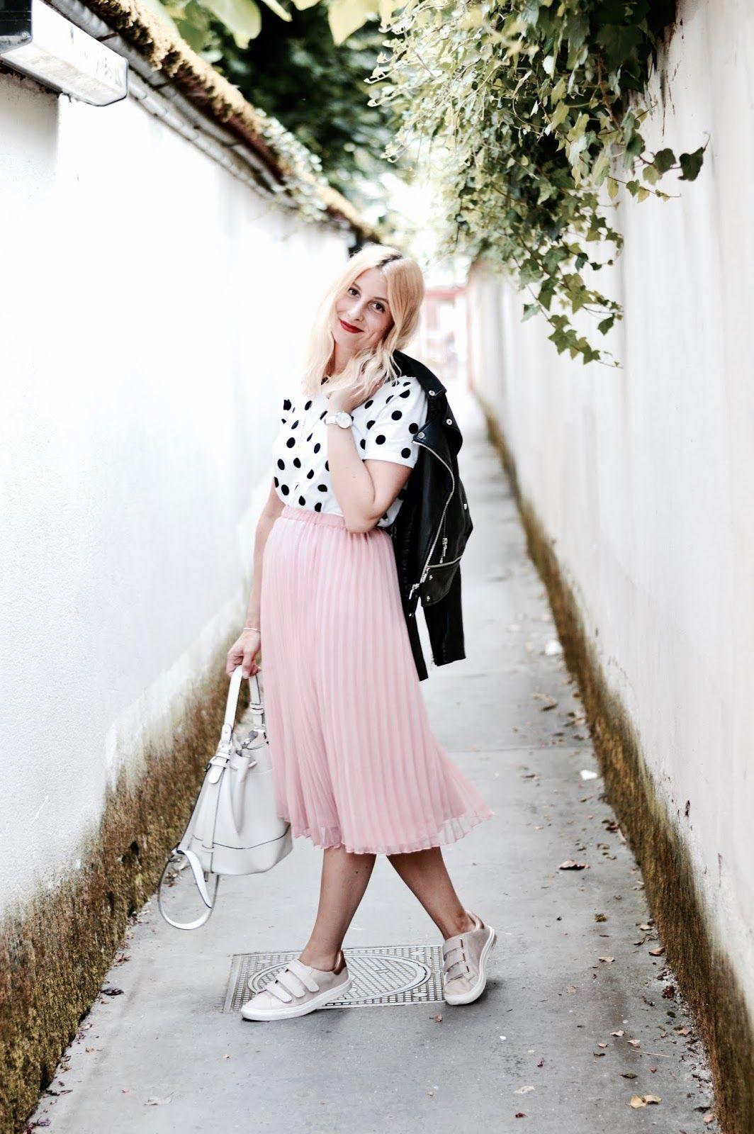 Rose Looks Skirts FemmeJupe Midi Look Et BasketTenues rdxBoCeW