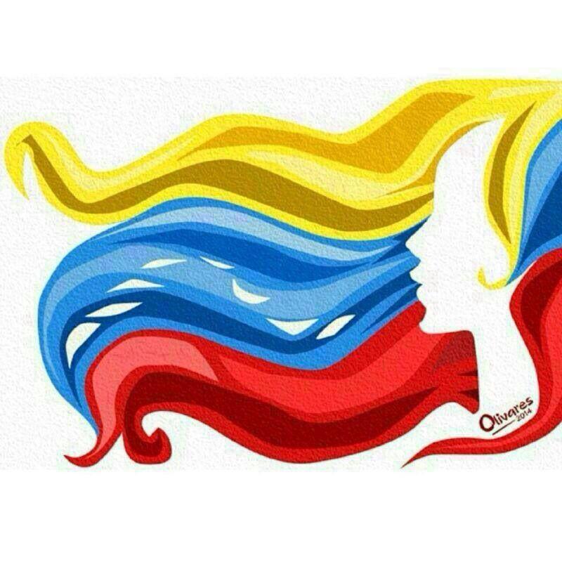 Mujer Venezolana Venezuela Abstract Artwork Canvas Artwork
