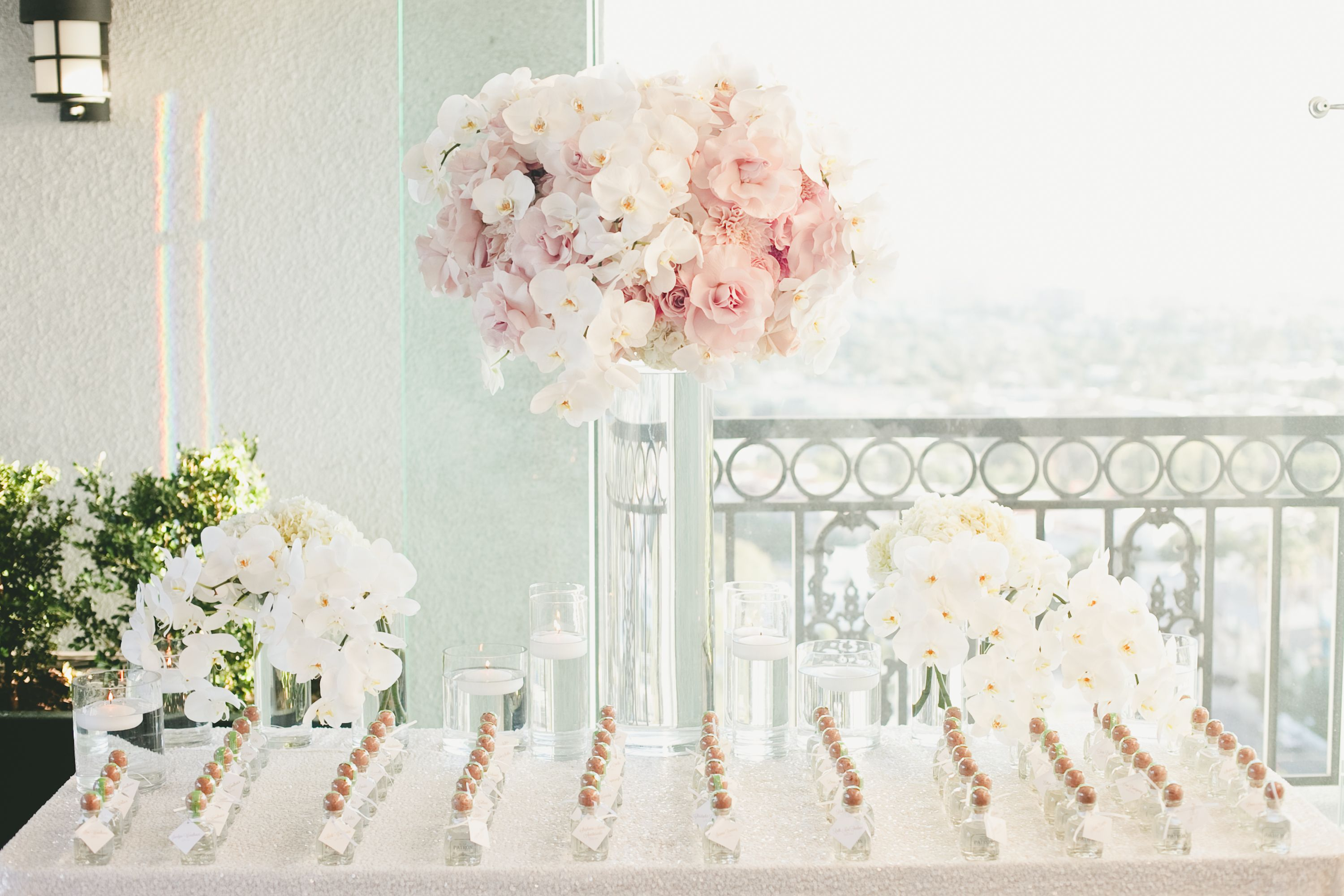 Elegant Orchid Favor Display | Ideas for Escort Cards, guest books ...