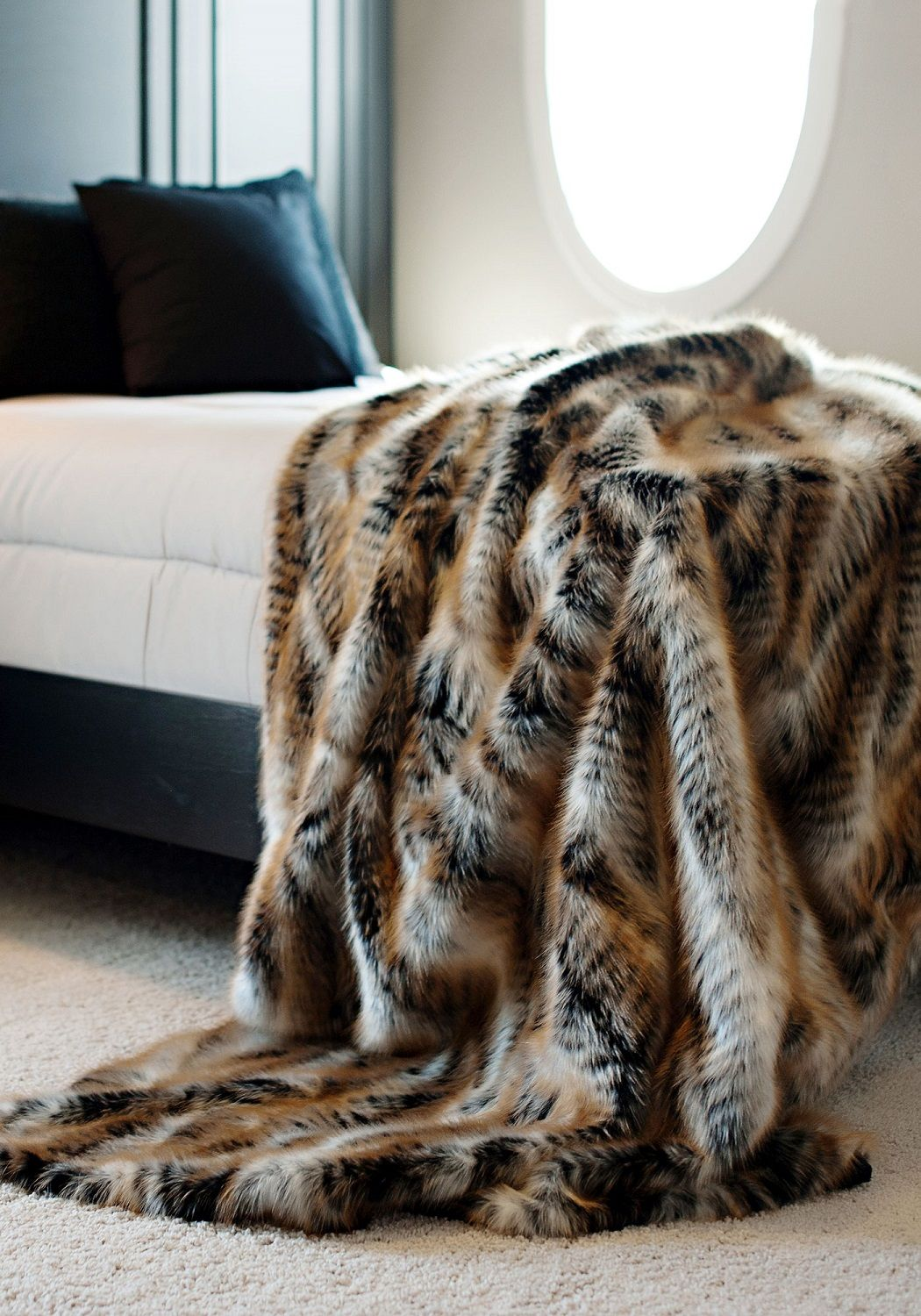 Sofa Tables RH us Exotic Faux Fur Oversized Bed Throw Siberian Grey Fox Our Exotic Faux Fur