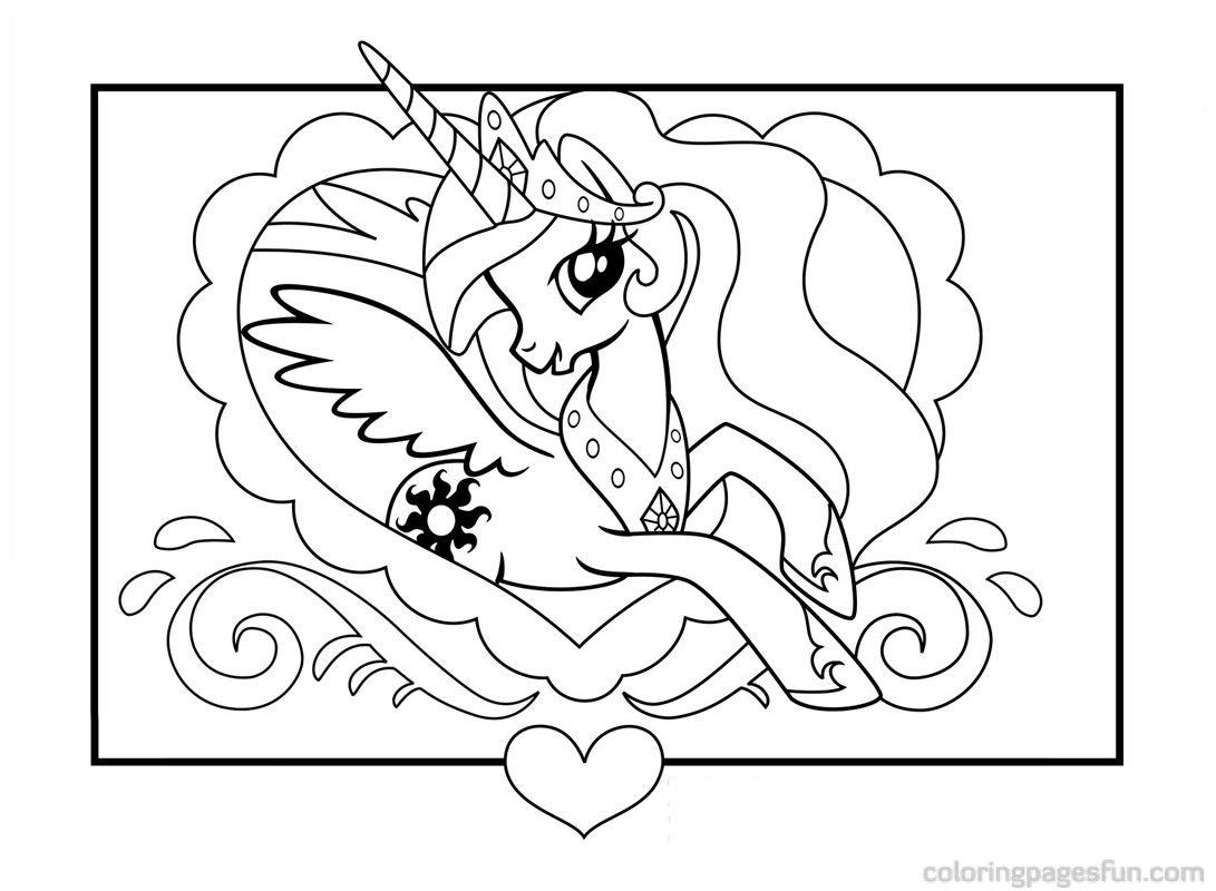 My Little Pony Princess Celestia Coloring Pages | pony picture ...