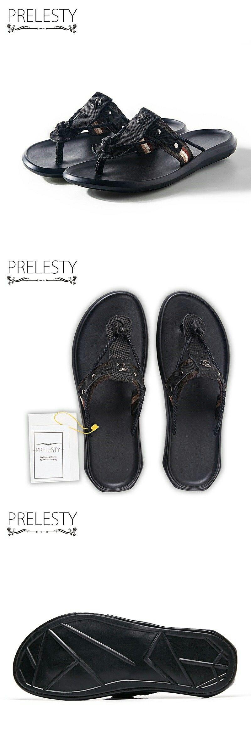 US 27.01 Prelesty Men Flip Flops Top Quality Material
