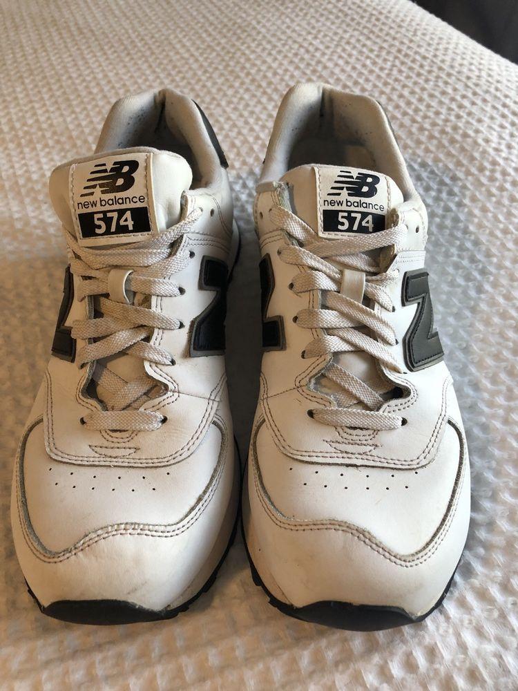 1f729b7290f69 New Balance 574 men size 9 White Black  fashion  clothing  shoes   accessories  mensshoes  athleticshoes (ebay link)