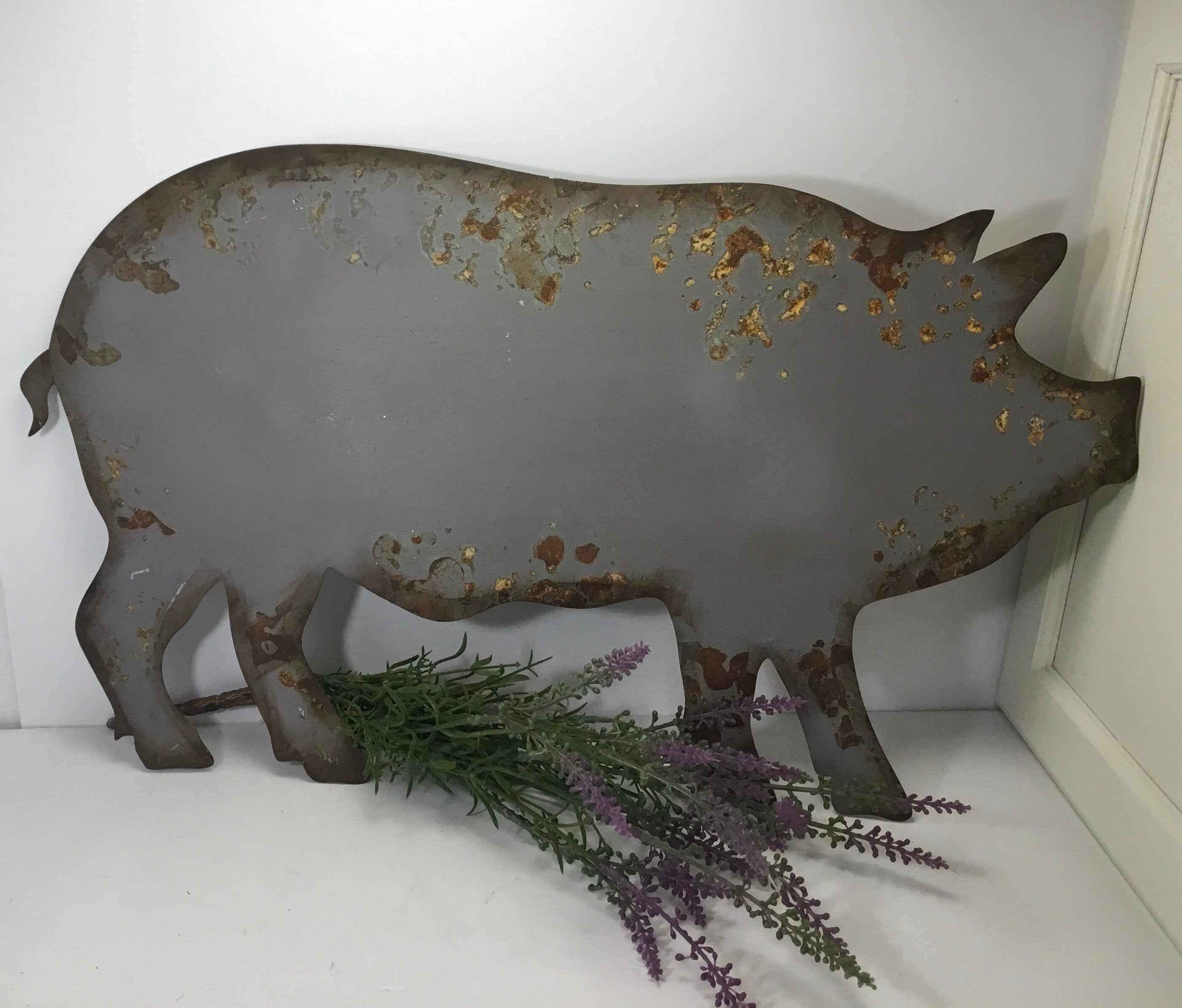 Metal Pig Wall Hanging Metal Pig Sign Farmhouse Decor Wall Hanging Pig Decor Kitchen Decor Pig Farmhouse D Pig Kitchen Decor Pig Decor Wall Hanging