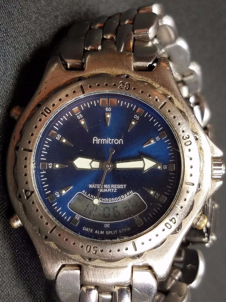 Vintage Armitron Watch Model 20/1301 T205 Water Resistant