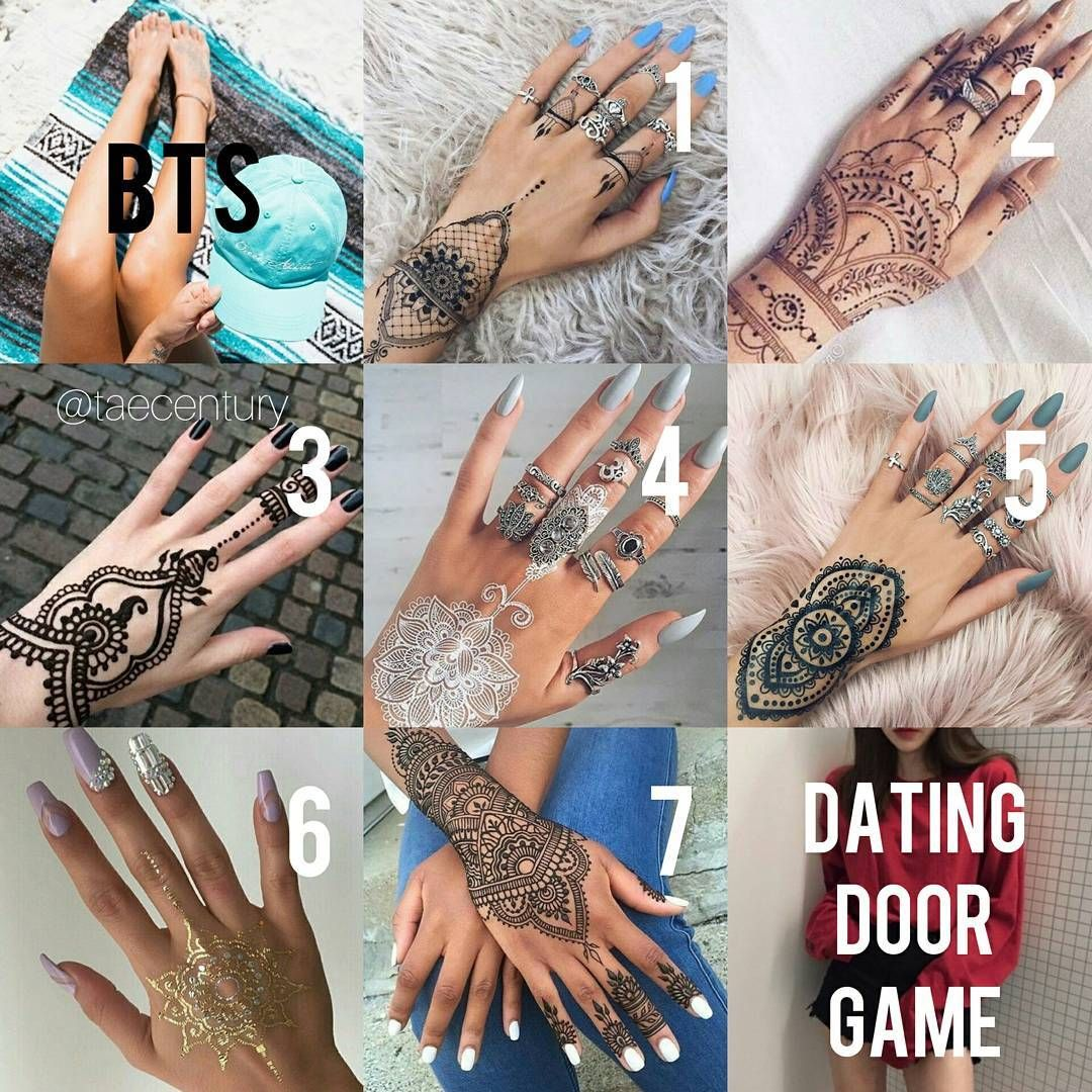 Bts Dating Door Game Henna Tattoo Like Choose Swipe And Comment Who