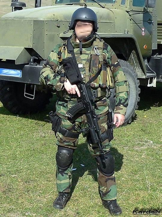 12 Russian Supermodels Who Gained International Success: Russian Spetsnaz Member Armed With AK-74M Assault Rifle