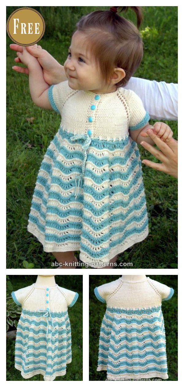 Best Sunday Baby Dress Free Knitting Pattern | Pinterest | Vestidos ...