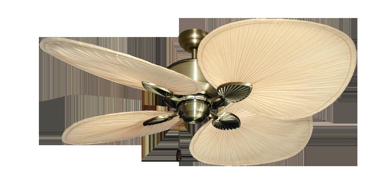 Palm Breeze Ii Antique Brass Ceiling Fan W 56 Natural Blades