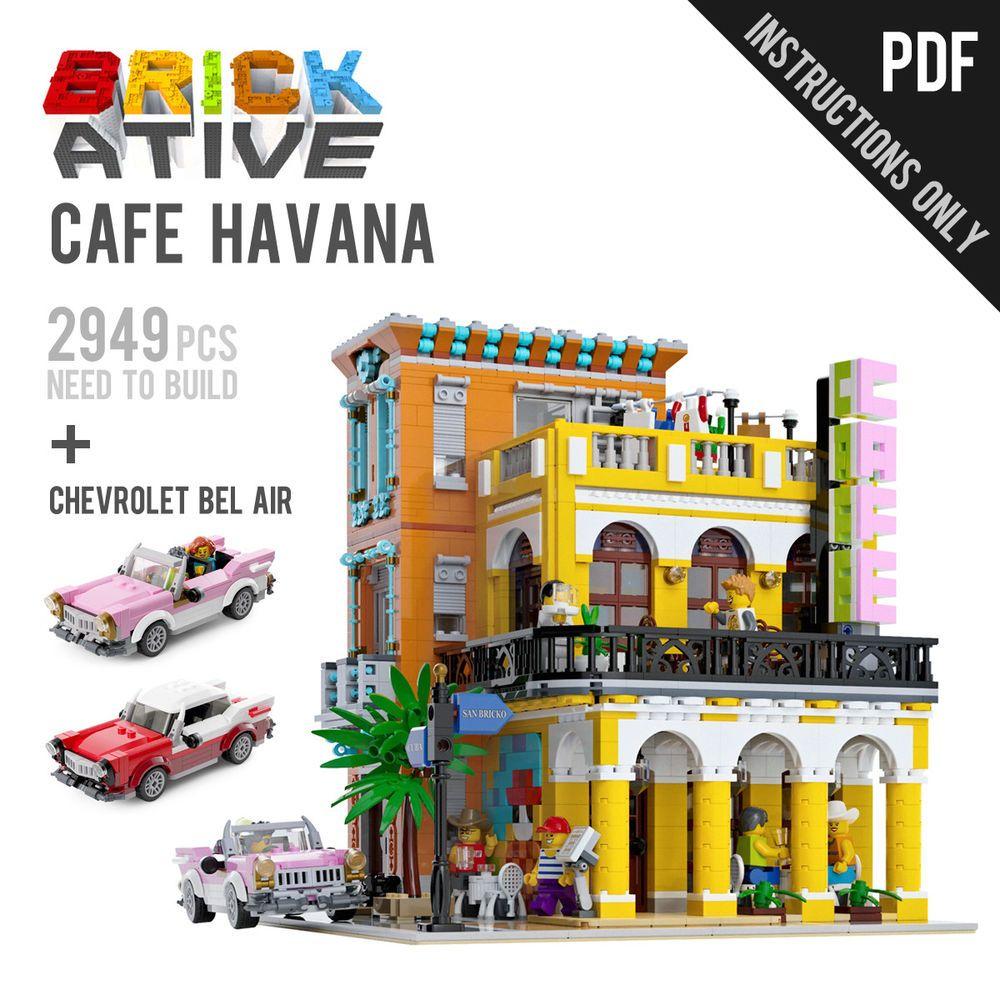 Lego Custom Modular Building Cafe Havana Chevrolet