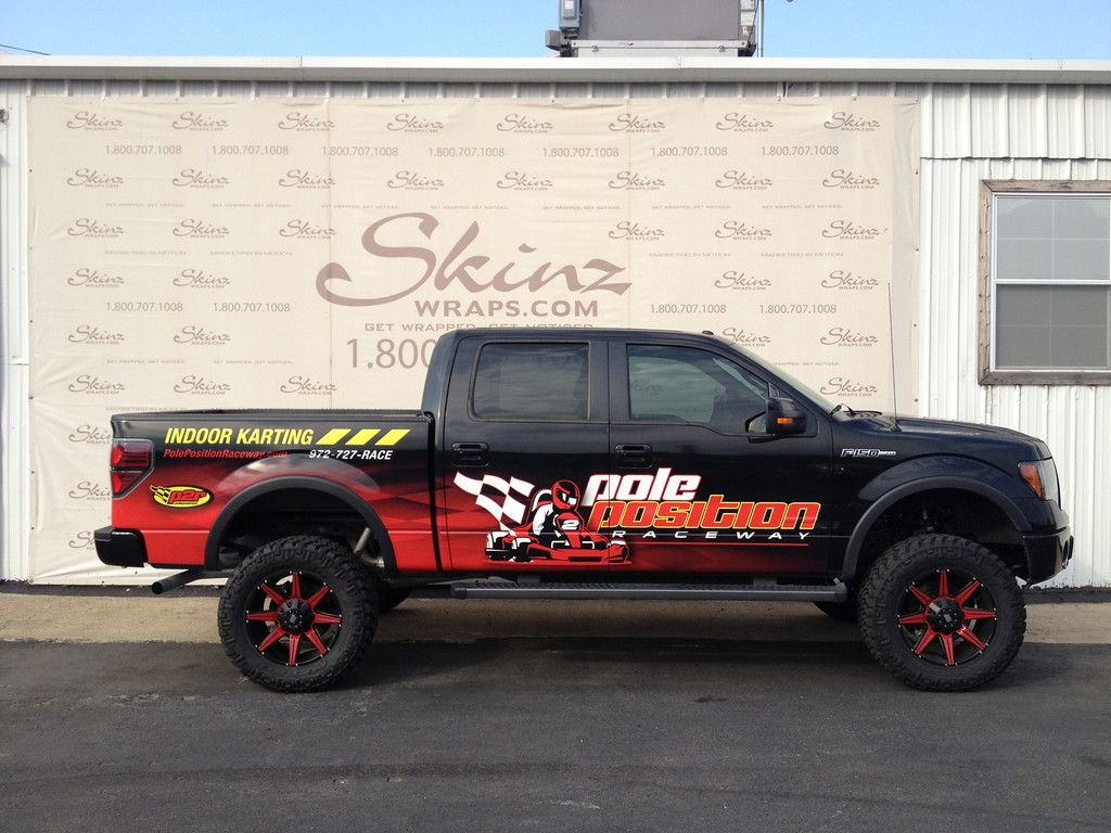 Pole Position Race Way Vinyl Truck Wrap On A Ford F 150 In