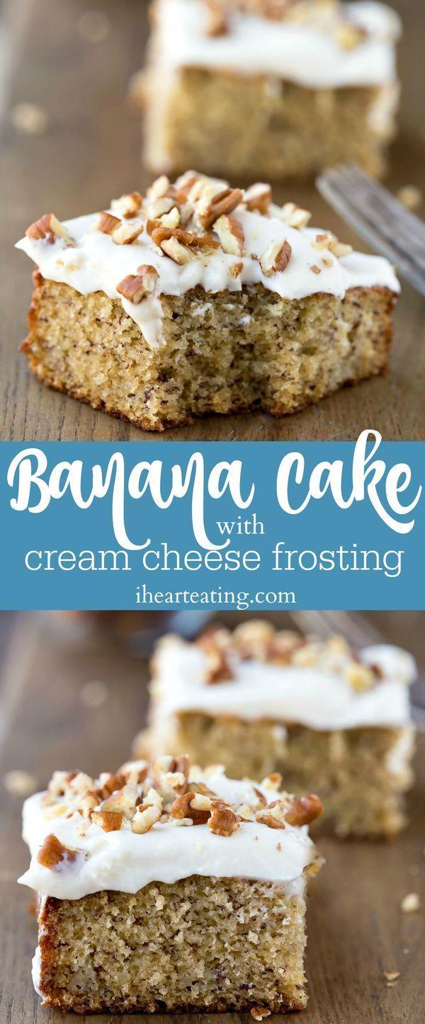 Banana Cake with Cream Cheese Frosting Recipe Banana