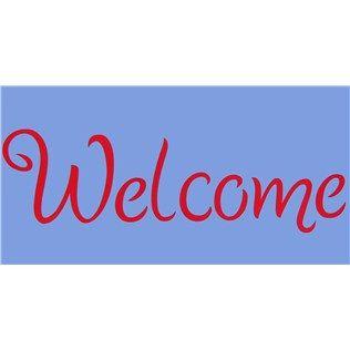 Welcome Decorative Stencil Welcome Stencil Stencils Stencil Crafts