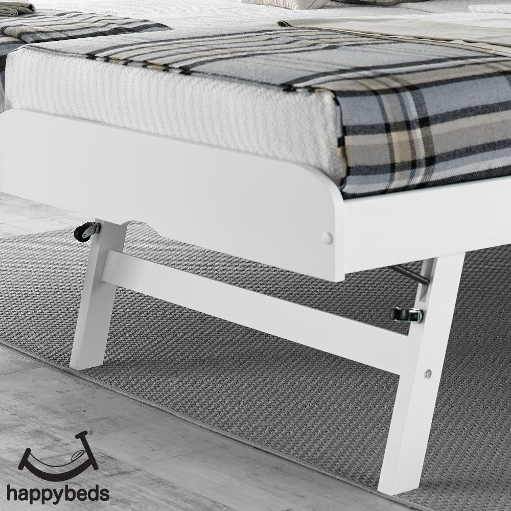 Toronto White Wooden Guest Bed And Trundle In 2020 Guest Bed