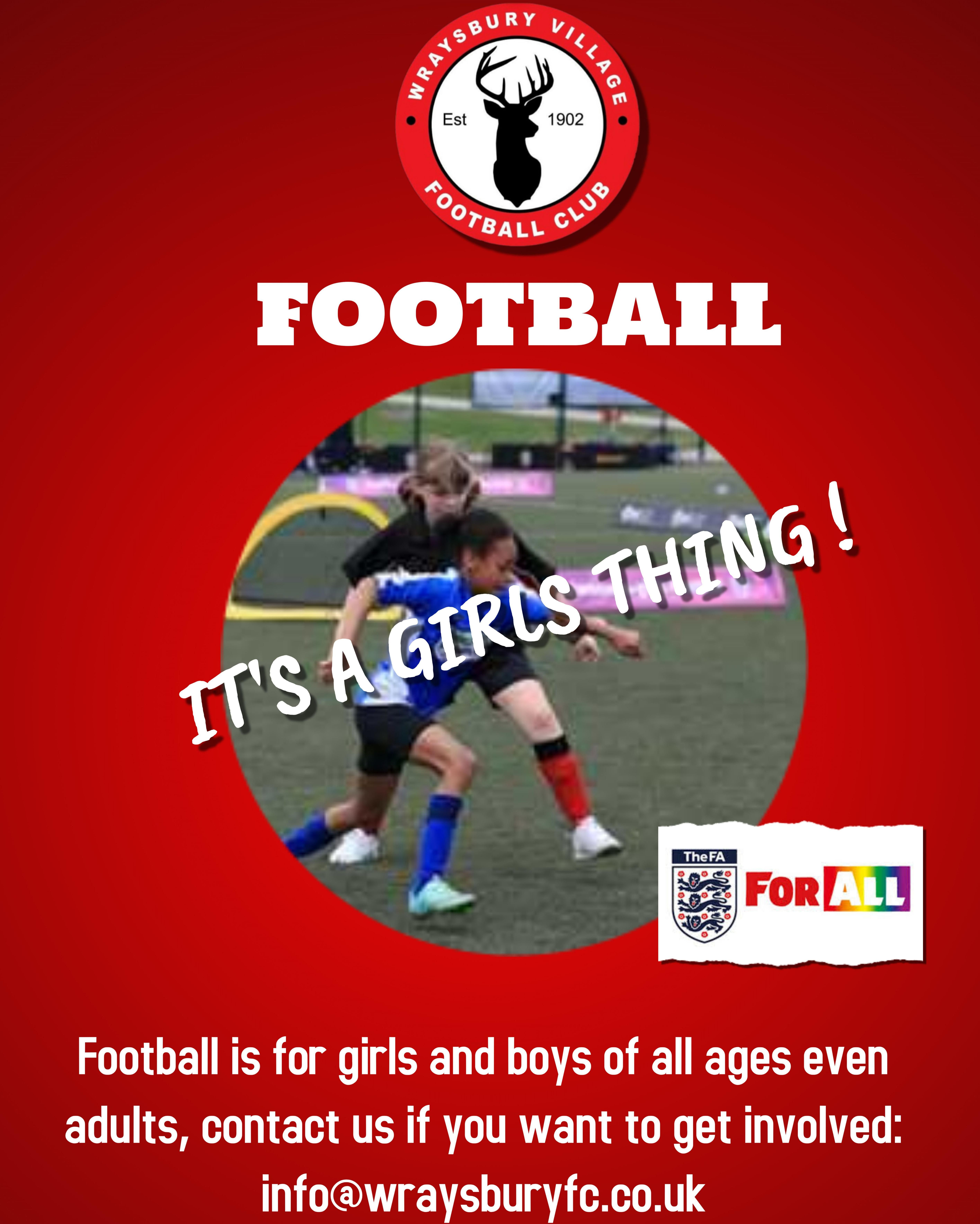The Frost Partnership Is Delighted To Sponsor Wraysbury Village Football Club It S A Girl Thing Football Is Football Club How To Get Partnership