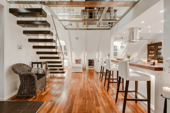 Skandinavisch wohnen eine spektakuläre Penthousewohnung in - wohnideen und mehr