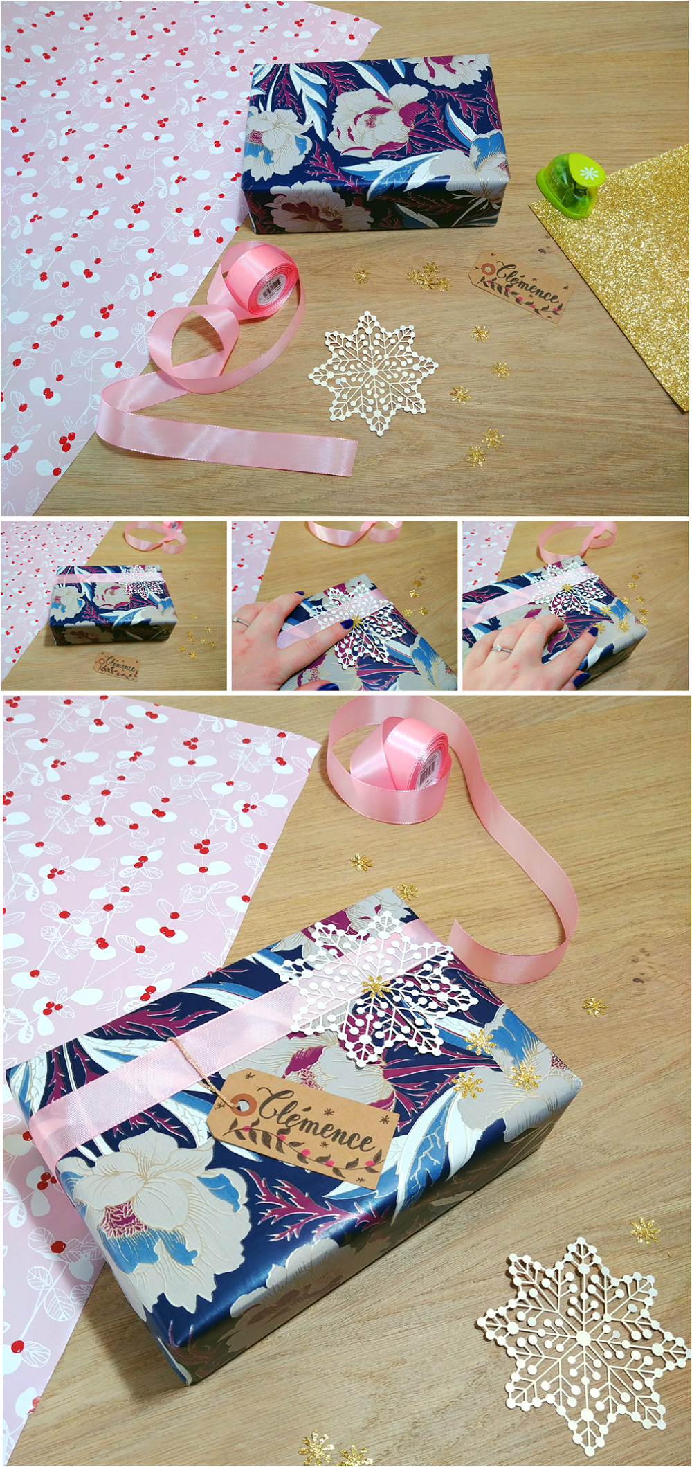 5 idées de paquet cadeau DIY Paquet cadeau, Rose en