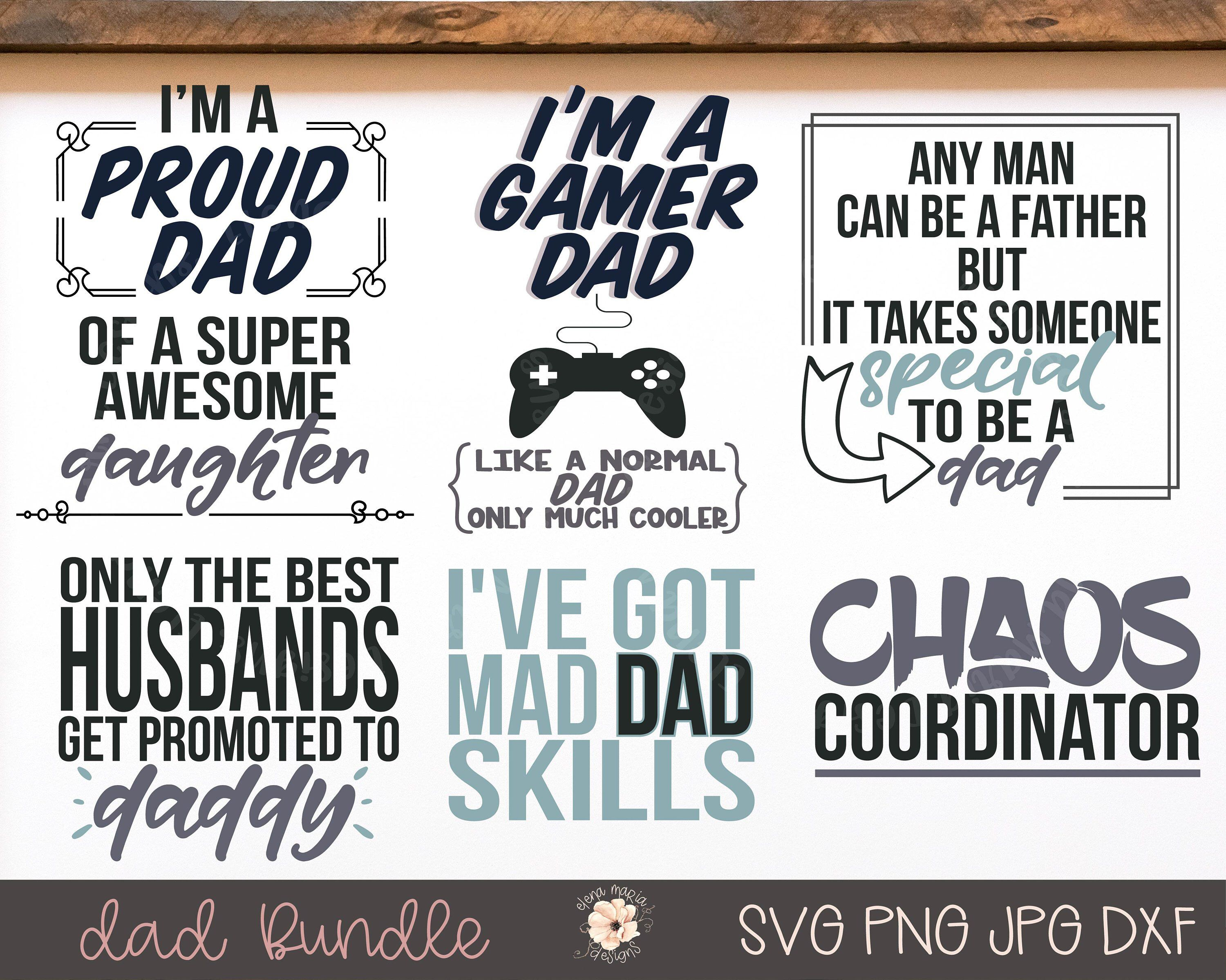 Fathers Day Svg Bundle Dad Svg Png Clip Art Cricut Svg Files Etsy In 2020 Svg Fathers Day Cricut