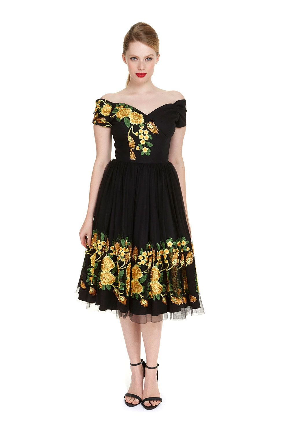 Fatale southern belle embroidered prom dress the pretty dress