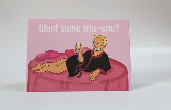 Want Some Snu-Snu? Greetings card