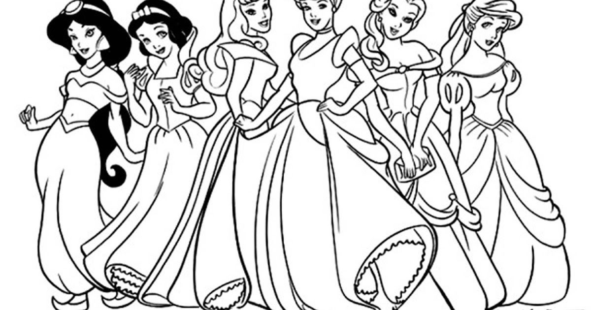 Disney Princess Printable Colouring Pages Disney Princess Coloring Pages Color In 2020 Princess Coloring Pages Disney Princess Colors Disney Princess Coloring Pages