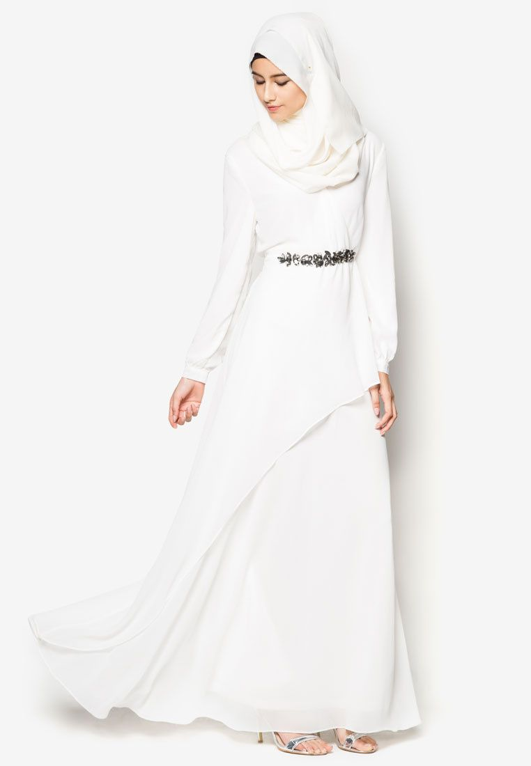 Zalia embellished chiffon dress probably only available for
