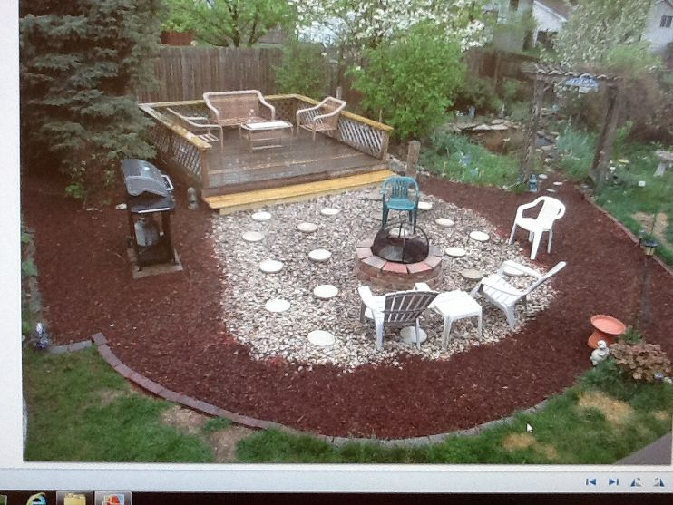 Removed Above Ground Pool And Now Have Big Circle Of Sand In Yard Above Ground Pool Landscaping Above Ground Pool Backyard Pool Landscaping