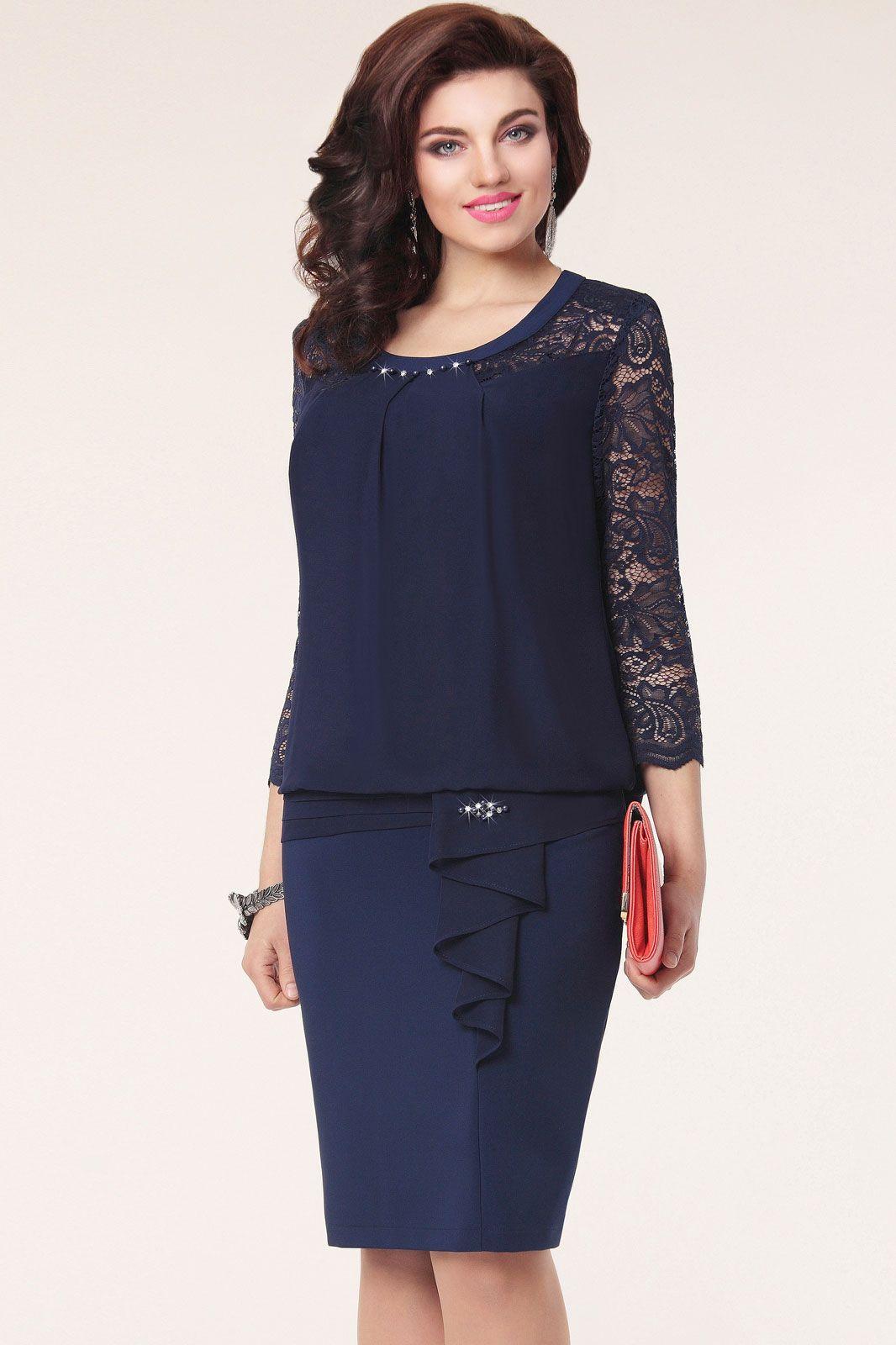 купить недорогое синее платье