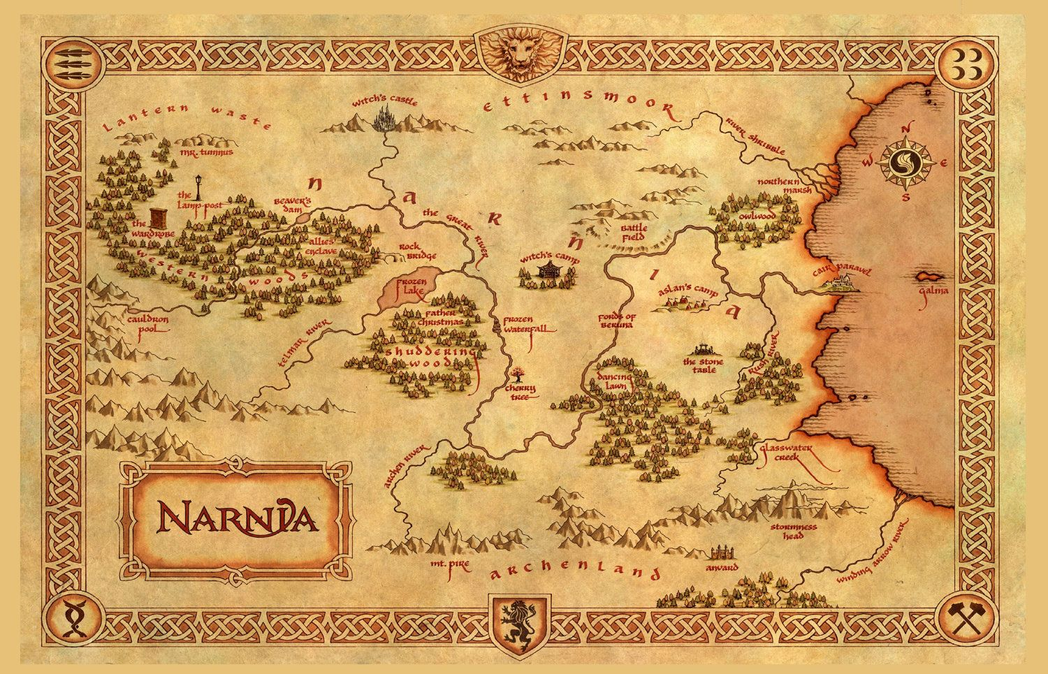 The Chronicles Of Narnia Inspired Skirt Map By Nerdalertcreations