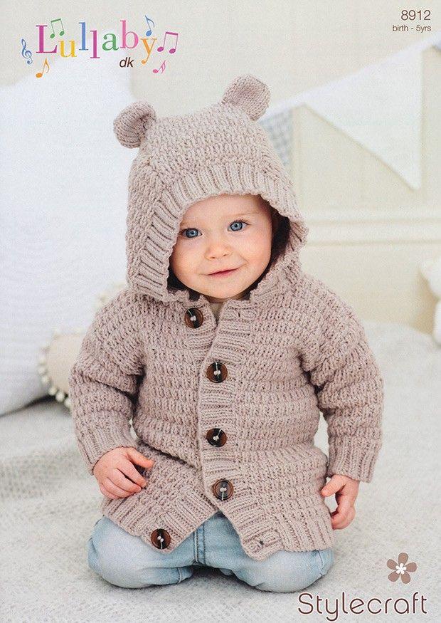 c943fd1ce Childrens Hoodie In Stylecraft Lullaby DK (8912)