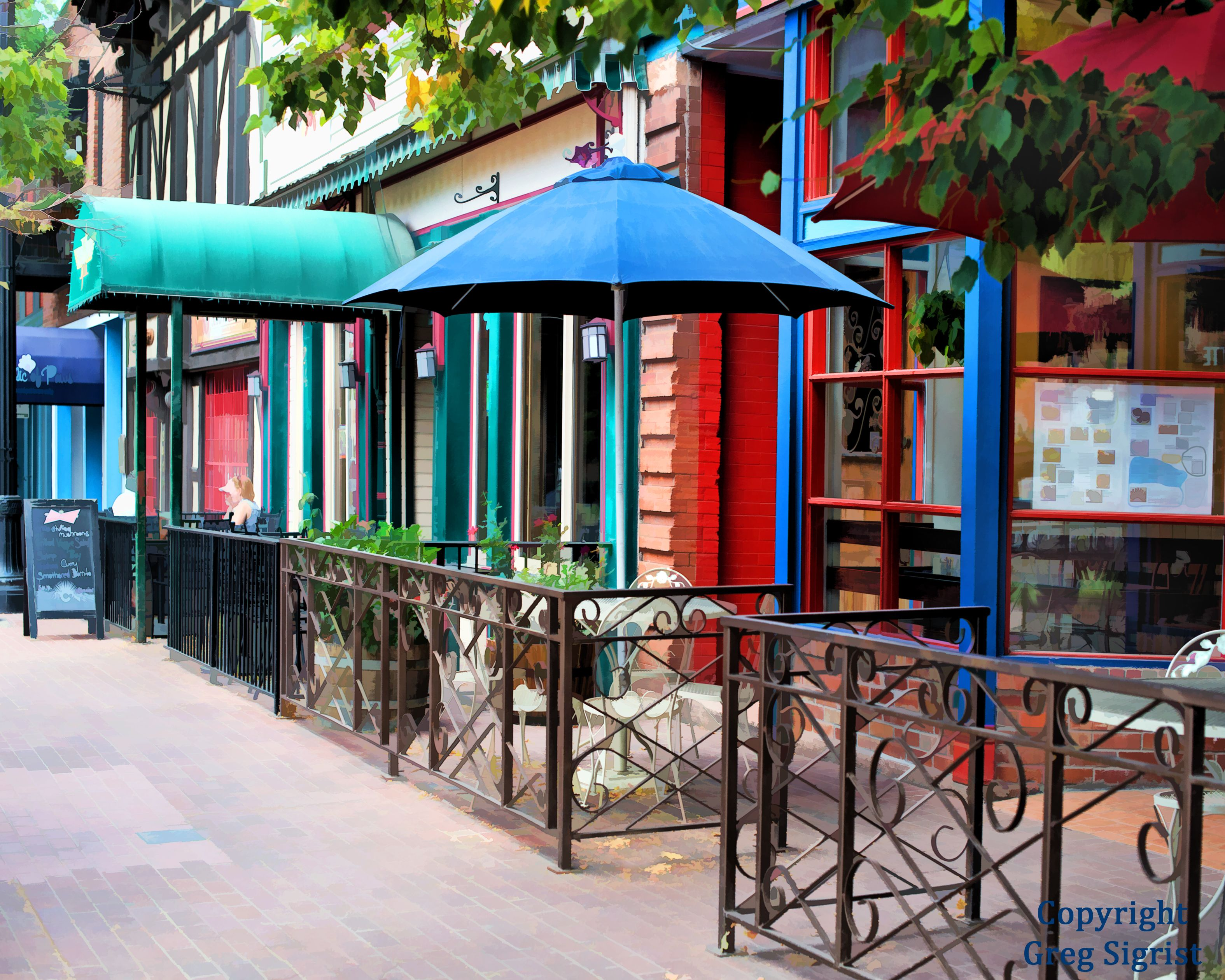 Outdoor Café, Old Town, Colorado Springs, Colorado