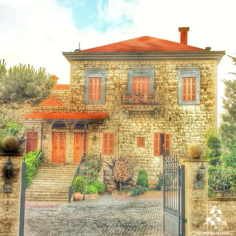 An amazing traditional lebanese house in the lovely for Lebanese home designs