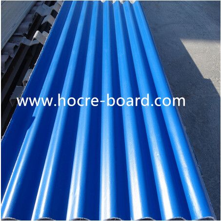 Colour Cocated Mgo Roof Tile With Anti Oxidation Film Roof Cleaning Fiber Cement Roof Tiles